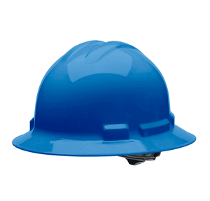 HHB2004 Malta Dynamics Hard Hat - Full Brim Style - 4 Pt. Suspension Ratchet Adjustment - Blue