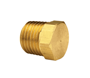 "HHP2M Dixon Brass Hex Head Plug - 1/4"" NPT Thread Adapter"