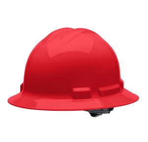 HHR2004 Malta Dynamics Hard Hat - Full Brim Style - 4 Pt. Suspension Ratchet Adjustment - Red