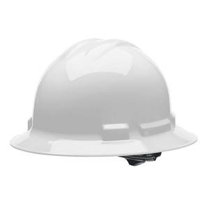HHW2004 Malta Dynamics Hard Hat - Full Brim Style - 4 Pt. Suspension Ratchet Adjustment - White