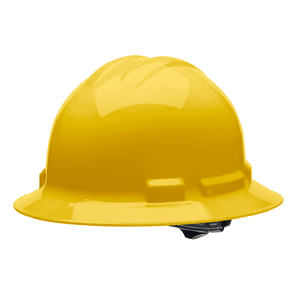 HHY2004 Malta Dynamics Hard Hat - Full Brim Style - 4 Pt. Suspension Ratchet Adjustment - Yellow