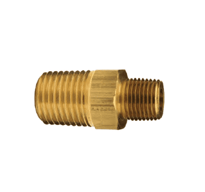 "HN3M2M Dixon Brass Reducer Hex Nipple - 3/8"" x 1/4"" NPTF Thread Adapter"