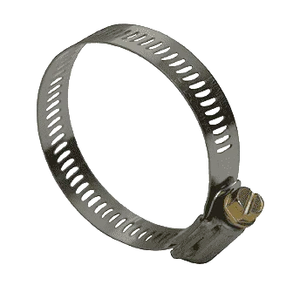 "HS12 Dixon Valve Style HS Worm Gear Clamps - SAE 201/301 Stainless - 1/2"" Band Width - Hose OD Range: from 44/64"" to 1-16/64"" (Box of 10)"