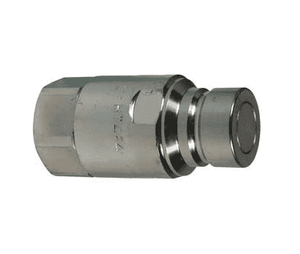 "HT4F4 Dixon 1/2"" Steel Flush Face Hydraulic Quick-Connect NPTF Plug - 1/2""-14 NPTF Thread"