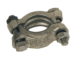 "J49 Dixon Double Bolt Clamp without Saddles - Plated Iron - Hose OD Range: 1-12/64"" to 1-24/64"""