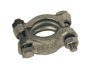 "DL14 Dixon Zinc Plated Iron Hydraulic Suction and Return Line Hose Clamp (without saddles) - 1"" Hose ID - Hose OD Range: 1-40/64"" to 1-52/64"""