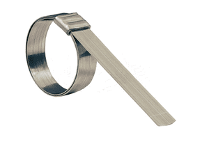 "JS210 Dixon Smooth ID Clamps - 201 Stainless Steel - 3/4"" Band Width - 2-3/4"" ID (Pack of 50)"