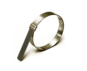 "Band-It JS3489 Jr. Smooth I.D. Clamp - GCS - 3/8"" x 0.025"", 4"" diameter - 100 Pieces/Box"