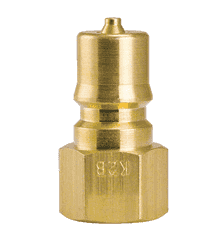 "K2B-104 ZSi-Foster Quick Disconnect FHK Series 1/4"" Two Way Shut Off 1/4"" Plug - Brass, w/Silicone Seal"