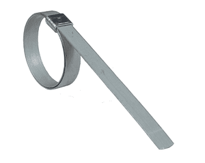 "K311 Dixon K-Series Band Clamps - Style K Universal Preformed Clamps - Galvanized Steel - 3/8"" Band Width - 1-3/8"" ID (Pack of 100)"