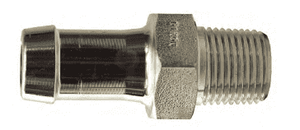 "KHN221 Dixon King Plated Steel Hex Nipple for one clamp - 1/4"" Hose Size x 1/4"" NPT Size"