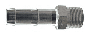 "KHN222 Dixon King Plated Steel Hex Nipple for two clamps - 1/4"" Hose Size x 1/4"" NPT Size"