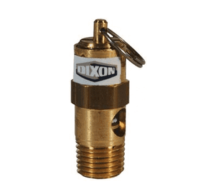 "KSV10-100 Dixon Brass Soft Seat Safety Pop-Off Valve - 1/4"" Male NPT - 33 SCFM"