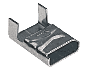 "C25299 BAND-IT Buckles Ear-Lokt style, 201/301SS 1/4"" x .029"" (Clip style) - 100 Pieces/Box"