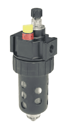 "L606-02B Dixon Watts Lubricator - 1/4"" Compact Polycarbonate Bowl with Plastic Bowl Guard - 40 SCFM"