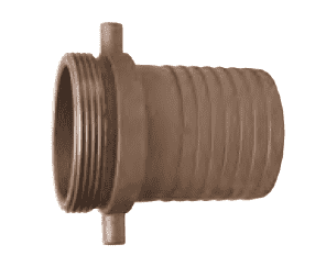 "MA200 Dixon 2"" King Short Shank Suction Male Coupling with NPSM Thread (Aluminum)"