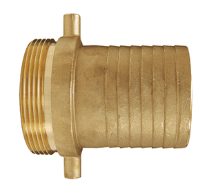 "BS201 Dixon 1-1/2"" King Short Shank Suction Male Coupling with NST (NH) Thread (Brass)"