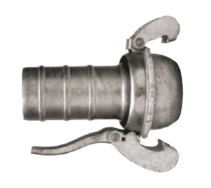 "MC3098 Dixon 8"" Type B (Bauer Style) Quick Connect Fitting - Male with Hose Shank - Galvanized Steel"