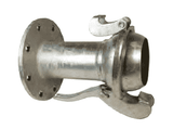"MC3134 Dixon 4"" Type B (Bauer Style) Quick Connect Fitting - Male with 150 ASA Flange - Galvanized Steel"