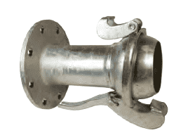 "MC3138 Dixon 8"" Type B (Bauer Style) Quick Connect Fitting - Male with 150 ASA Flange - Galvanized Steel"