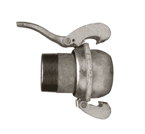 "MCM3113 Dixon 3"" Type B (Bauer Style) Quick Connect Fitting - Male with Male NPT - Galvanized Steel"