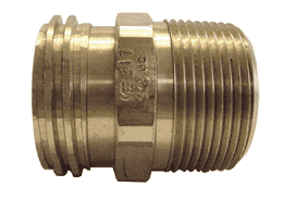 "ME233 Dixon Brass 2-1/4"" Male Acme x 1-1/4"" Male NPT Adapter"