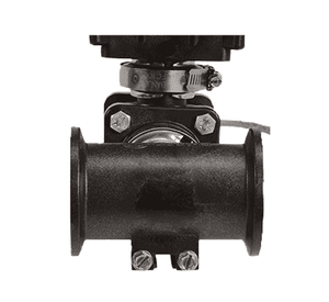 "MEV103MB Banjo 3 Valve Electric Manifold Assembly with Mounting Brackets - 2"" Inlet Flanges - 1"" Outlet Flanges - 150 PSI"