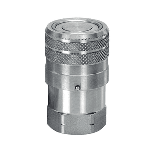 ML8DBS100F Eaton MLDB Series Flat Face/Dry Break Female Socket - 1-11 1/2 Female NPT Quick Disconnect Coupling - FKM - Stainless Steel