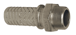 "MS46 Dixon Plated Iron Boss Male Stem - 4"" Hose Shank x 4"" Male NPT"