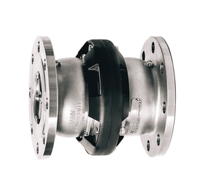 "SBC500SSFL Dixon 5"" 316 Stainless Steel Industrial Safety Break-Away Coupling - 150# Flange x 150# Flange - 125 DN"