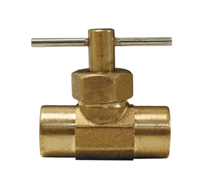 "NV4F Dixon Brass Needle Valve - 1/4"" Female NPT x 1/4"" Female NPT"