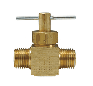 "NV4M Dixon Brass Needle Valve - 1/4"" Male NPT x 1/4"" Male NPT"