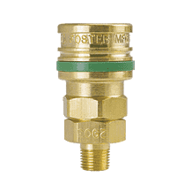 "BLO-3303 ZSi-Foster Quick Disconnect O60 Series 1/4"" Standard Socket - 3/8"" MPT - Ball Lock, Brass"
