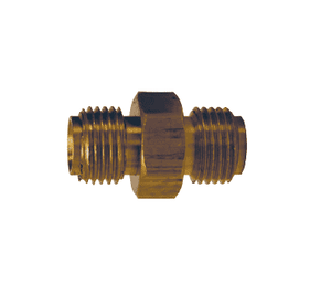 "OA50 Dixon Brass Oxy-Acetylene Connecting Spud - 9/16""-18 Right-Hand Thread x Right-Hand Thread - 11/16"" Hex"