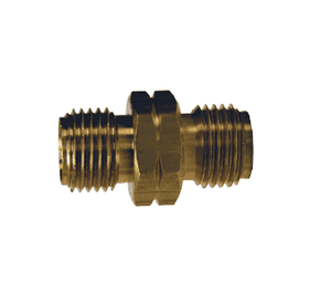 "OA52 Dixon Brass Oxy-Acetylene Connecting Spud - 9/16""-18 Left-Hand Thread x Left-Hand Thread - 11/16"" Hex"