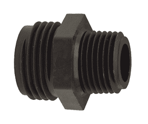 "PPA774 Dixon Tuff-Lite Polypropylene Male GHT x 1/2"" Male NPT Adapter (Pack of 50)"