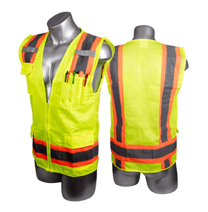 PPE-011 Malta Dynamics High Visibility Yellow Safety Surveyor Vest - 4XL