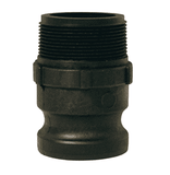 "PPF50 Dixon 3/4"" x 1/2"" Type F Polypropylene Adapter - Male NPT x Male Adapter"