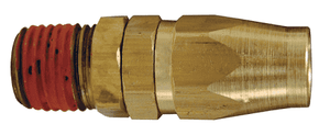 "PSM0404 Dixon Polyurethane Self-Storing Air Hose Repair Kit - Brass 1/4"" Swivel Male - 1/4"", ID, 3/8"" OD"