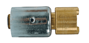 "QB22WF Dixon Brass Dix-Lock Quick-Acting Coupling with Ferrule - Female Head - 1/2"" Hose ID"