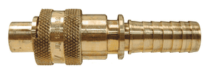 "QB5 Dixon 1/2"" Dix-Lock Quick Acting Coupling - Brass - 1/2"" Male Head x 1"" Hose End"