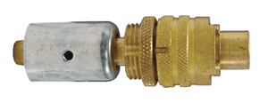 "QB33WF Dixon Brass Dix-Lock Quick-Acting Coupling with Ferrule - Male Locking Head - 1/2"" Hose ID"