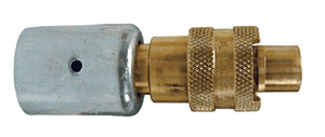 "QB3WF Dixon Brass Dix-Lock Quick-Acting Coupling with Ferrule - Male Head - 1/2"" Hose ID"