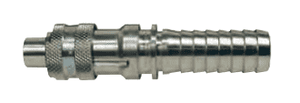 "QM1 Dixon 3/8"" Dix-Lock Quick Acting Coupling - Plated Steel - 3/8"" Male Head x 1/2"" Hose End"