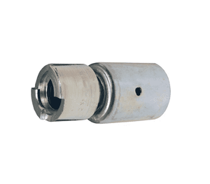 "QM22WF Dixon Plated Steel Dix-Lock Quick-Acting Coupling with Ferrule - Female Head - 1/2"" Hose ID"