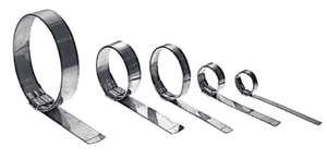 "QS3039 Band-It Jr. Smooth I.D. Clamp - 201SS - 1/2"" x 0.030"", 1"" diameter - 500 Pieces/Box"