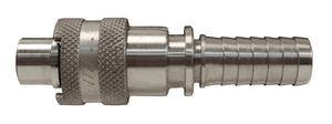 "QSS4 Dixon 1/2"" Dix-Lock Quick Acting Coupling - 303 Stainless Steel - 1/2"" Male Head x 3/4"" Hose End"