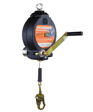 R0003 Malta Dynamics Razorback™ 100' 3-Way Recovery Self-Retracting Lifeline