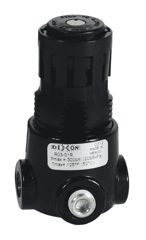 "R03-02R Dixon Wilkerson 1/4"" Miniature Regulator without Gauge - 15 SCFM"