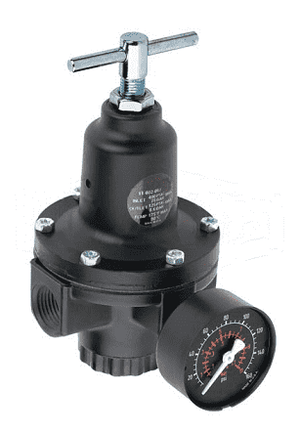 "R11-013RG Dixon Series 1 General 1/4"" Regulator with Gauge - 110 SCFM"